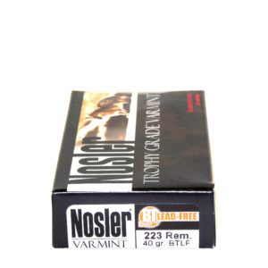 Nosler Ammo 223 Rem 40 Grain Boat Tail (Lead Free) (20)