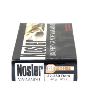 Nosler Ammo 22-250 Rem 40 Grain Boat Tail (Lead Free) (20)