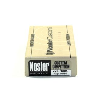 Nosler Ammo 223 Rem 77 Grain Custom Competition Match (20)