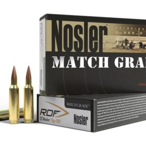 Nosler Ammo 22 Nosler 70 Grain RDF (Reduced Drag Factor) Hollow Point Boat Tail (20)