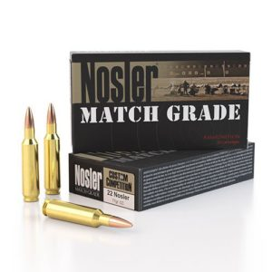 Nosler Ammo 22 Nosler 77 Grain Custom Competition Match 300 Ct Can