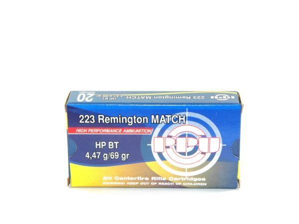 Prvi Ammo 223 Rem 69 Grain Hollow Point Boat Tail Match (20)