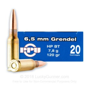 Prvi Ammo 6.5 Grendel 120 Grain Hollow PointBoat Tail (20)