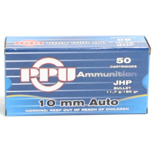 Prvi Ammo 10mm 170 Grain Jacketed Flat Point (50) 10/Cs