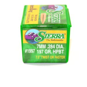 Sierra .284 / 7mm 197 Grain Hollow Point Boat Tail MatchKing (100)