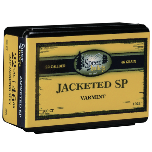 Speer .224 / 218 Bee 46 Grain Flat Nose With Cannelure (100)