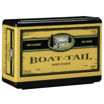 Speer .338 / 338 225 Grain Boat Tail Soft Point (50)