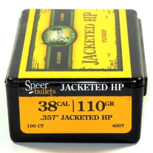 Speer .357 / 38 110 Grain Jackted Hollow Point (100)