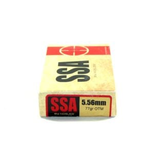 SSA Ammo 5.56mm 77 Grain Nosler Custom Competition (Open Tip Match) Hollow Point Boat Tail (20 20/Cs