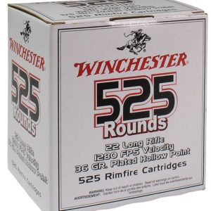 Winchester Ammo 22Lr 36 Grain Hollow Point (525) Copper Plated 10 Bx/Cs