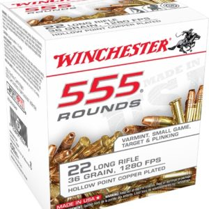 Winchester Ammo 22Lr 36 Grain Hollow Point (555) Copper Plated 10 Bx/Cs