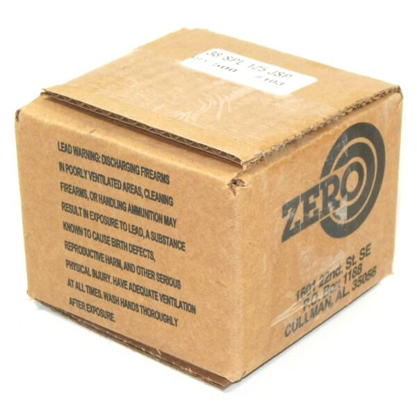 Zero .357 / 38 Special 125 Grain Jacketed Soft Point (500)