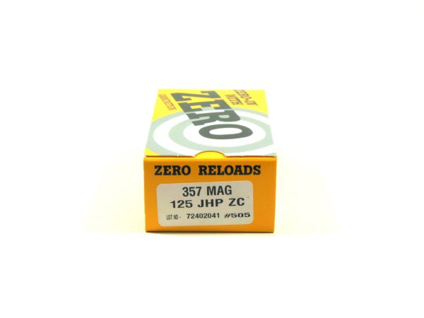 Zero Ammo Reload 357 125 Grain Jacketed Hollow Point (50)