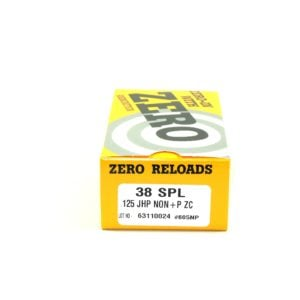 Zero Ammo Reload 38 Special 125 Grain Jacketed Hollow Point (50)