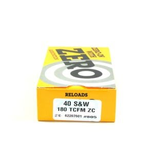 Zero Ammo Reload 40 180 Grain Truncated Cone Full Metal (50)