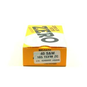 Zero Ammo Reload 40 165 Grain Truncated Cone Full Metal (50)