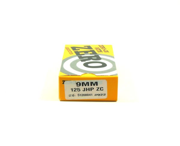 Zero Ammo Reload 9mm 125 Grain Jacketed Hollow Point (50)