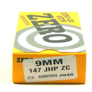Zero Ammo Reload 9mm 147 Grain Jacketed Hollow Point (50)