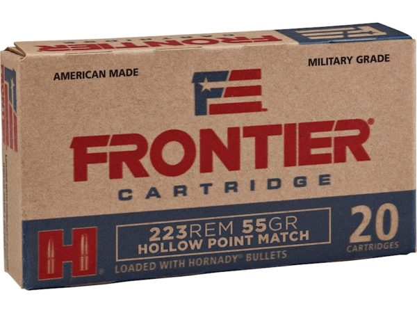 Frontier 223 Rem 55 Gr Hornady Hollow Point Match (20)