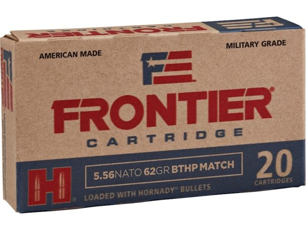 Frontier 5.56 Nato 62 Gr Hornady Boat Tail Hollow Point Match (20)