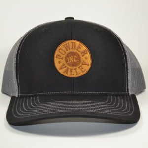 Powder Valley Hat Black Trucker Hat New Logo