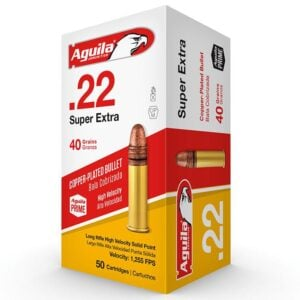 Aguila 22Lr 40 Gr Super Extra Copper Coated Rn Hv (50)