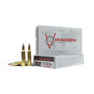 Nosler Ammo 22-250 Rem 55 Grain Flat Base Hollow Point Varmageddon (20)