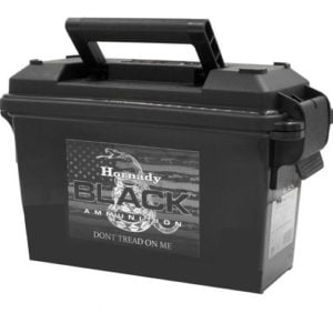 Hornady Ammo 300 Blackout 110 Grain V-MAX Black (200) Ammo Can
