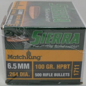 Sierra .264 / 6.5mm 100 Grain Boat Tail Hollow Point MatchKing (500)