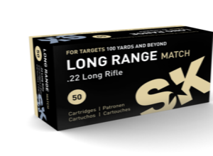 SK Ammo 22LR 40 Grain Lead Round Nose Long Range Match (50)