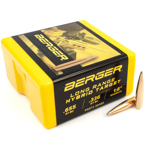 Berger .264 / 6.5mm 144 Grain Long Range Hybrid Target Bullet (100)