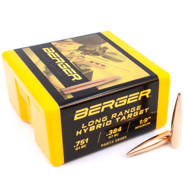 Berger .284 / 7mm 190 Grain Long Range Hybrid Target Bullet (100)