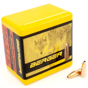 Berger .224 / 22 52 Grain Match Varmint Flat Base (100)