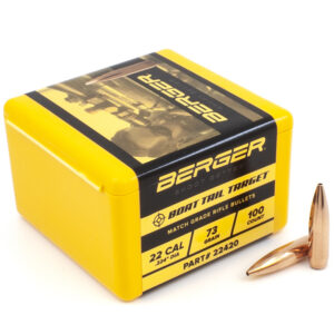 Berger .224 / 22 73 Grain Match Target Boat Tail (100)