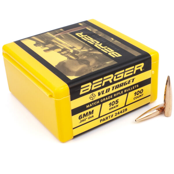 Berger .243 / 6mm 105 Grain Target Very Low Drag (100)
