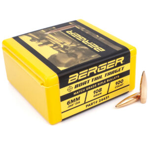 Berger .243 / 6mm 108 Grain Target Boat Tail (100)