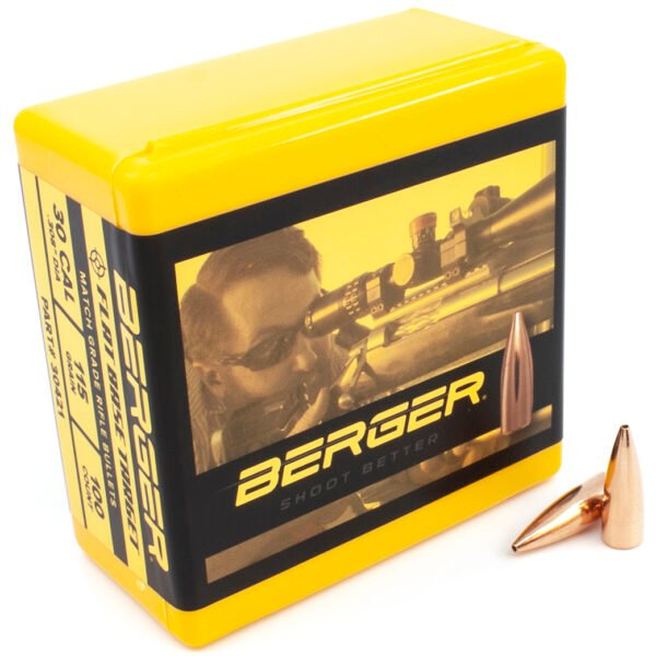 Berger .308 / 30 115 Grain Match Target Flat Base (100)