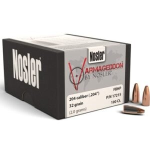 Nosler .204 / 20 32 Grain Varmageddon Flat Base Hollow Point (100)