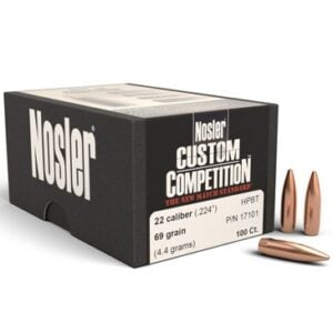 Nosler .224 / 22 69 Grain Hollow Point Boat Tail Custom Competition (100)