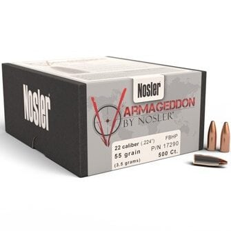 Nosler .224 / 22 55 Grain Varmageddon Flat Base Hollow Point (100)