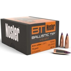 Nosler .243 / 6mm 70 Grain Spitzer Boat Tail (100)