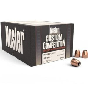Nosler .451 / 45 185 Grain Jacketed Hollow Point Custom Competition (250)