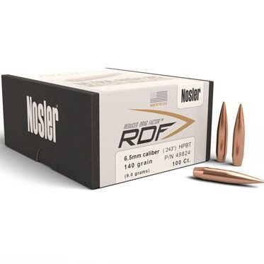 Nosler .264 / 6.5mm 130 Grain Hollow Point Boat Tail RDF (Reduced Drag Factor) (100)