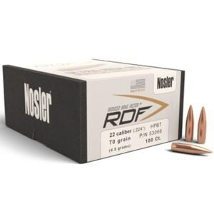 Nosler .224 / 22 70 Grain Hollow Point Boat Tail RDF (Reduced Drag Factor) (100)