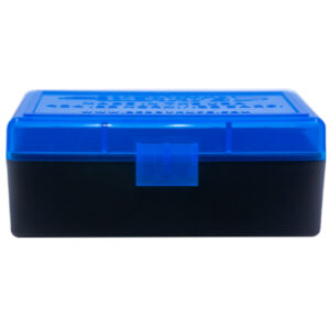 Berrys Ammo Box 22 Hornet 30 M1 Hinged Top Blue 50/Cs