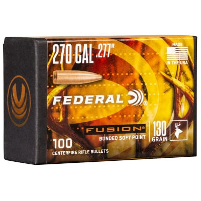 Federal .227 / 270 130 Grain Fusion Bonded SP Bullet (100 ct.)