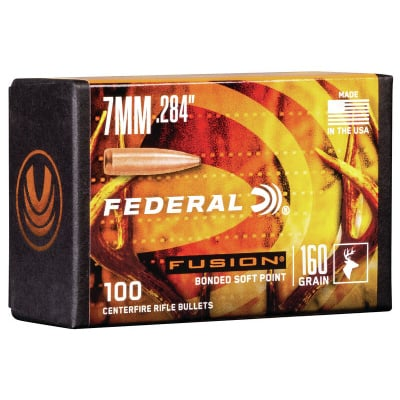 Federal .284 / 7mm 175 Grain Fusion Bonded SP Bullet (100 ct.)