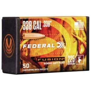 Federal .338 / 338 225 Grain Fusion Bonded SP Bullet (50 ct.)