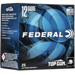 "Federal 12 Ga 1 1/8 Oz #8 2 3/4"" Top Gun Ammunition (25 Rounds) 1200 FPS"