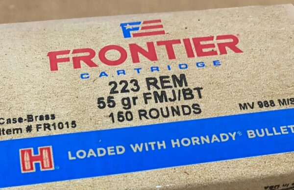 Frontier 223 Ammo 55 grain Full Metal Jacket